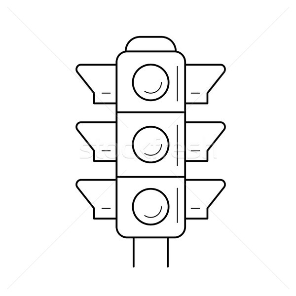 Traffic light line icon. Stock photo © RAStudio