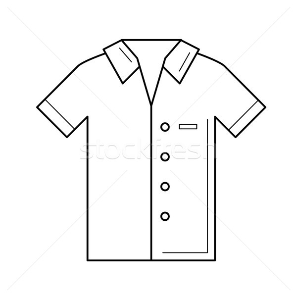 Polo shirt vector line icon. Stock photo © RAStudio