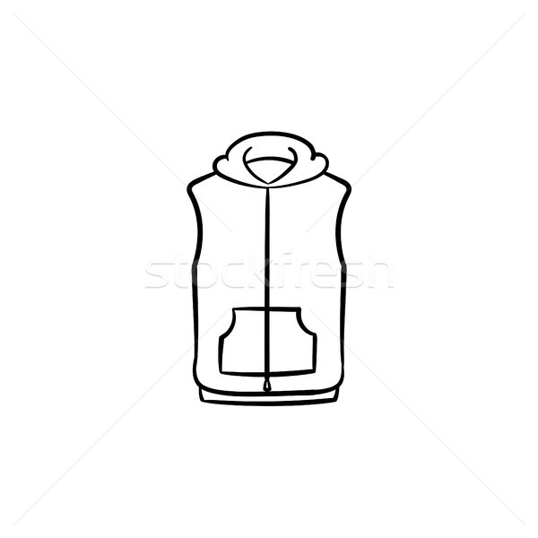 Vest jacket hand drawn sketch icon. Stock photo © RAStudio