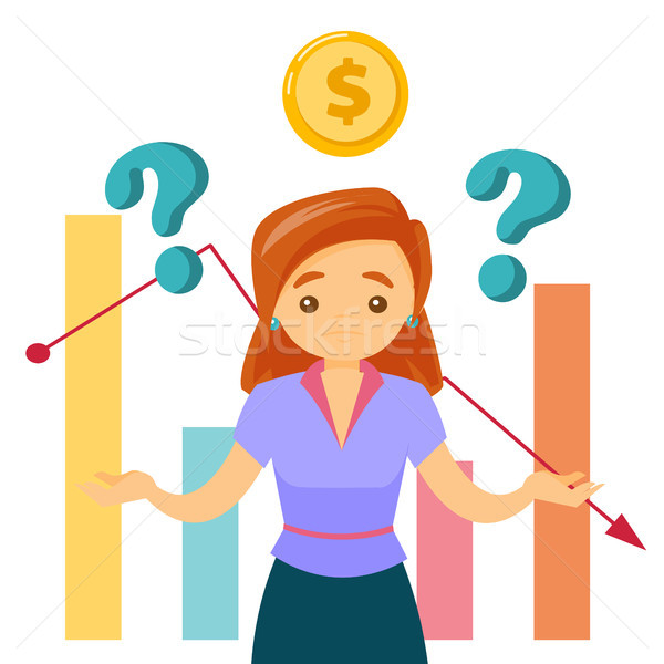 White woman in stress because of the market crisis Stock photo © RAStudio