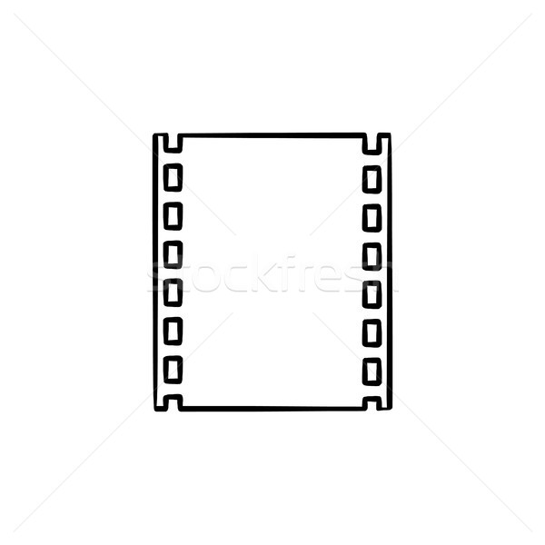 Cine-film strip hand drawn outline doodle icon. Stock photo © RAStudio