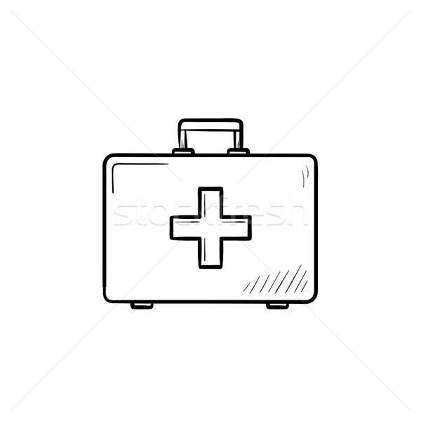 First aid kit hand drawn outline doodle icon. Stock photo © RAStudio