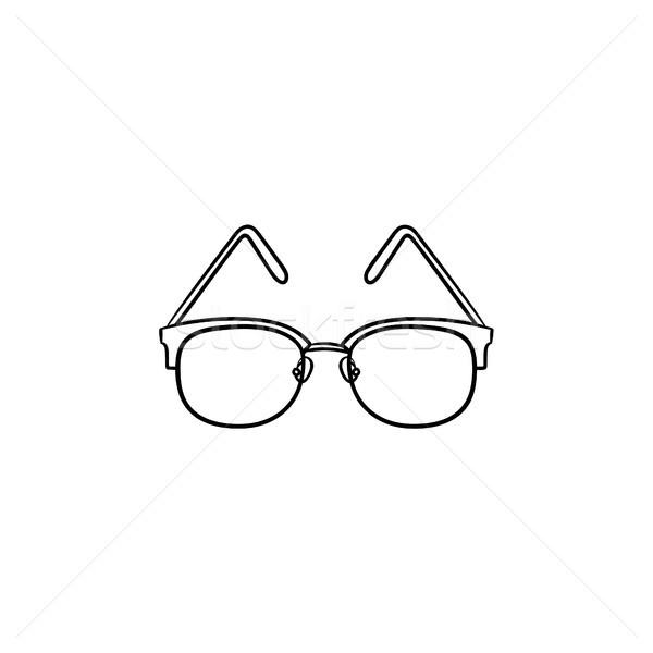 Eyeglasses hand drawn outline doodle icon. Stock photo © RAStudio