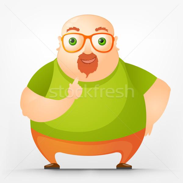 ぽってり 男 楽しい 脂肪 漫画 ストックフォト © RAStudio