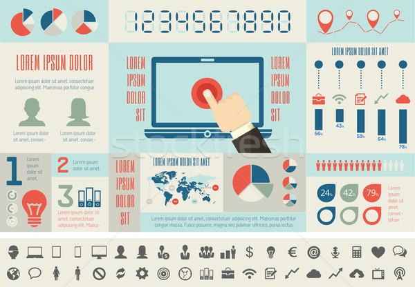 ストックフォト: 業界 · インフォグラフィック · 要素 · eps · 10 · コンピュータ