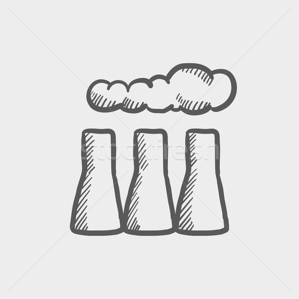 Factory pipe sketch icon Stock photo © RAStudio