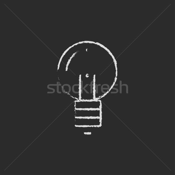 Light bulb icon drawn in chalk. Stock photo © RAStudio