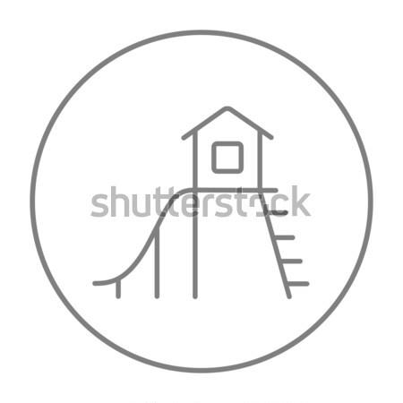 Real estate agent icon drawn in chalk. Stock photo © RAStudio