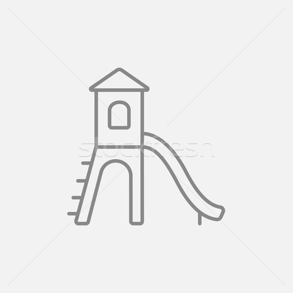 Playground with slide line icon. Stock photo © RAStudio
