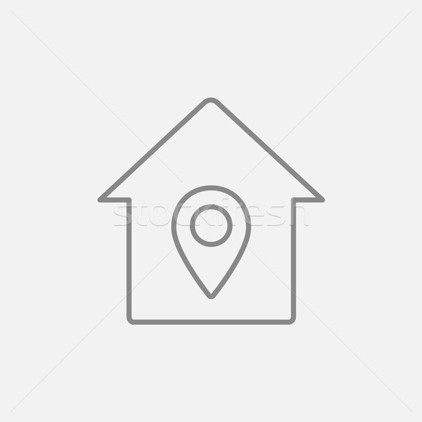 House with pointer line icon. Stock photo © RAStudio
