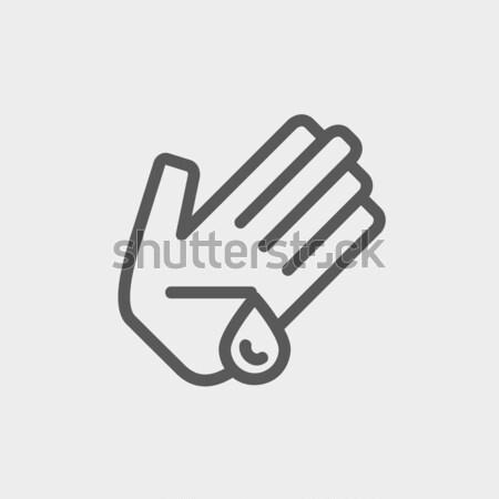 Yaralı palmiye hat ikon web hareketli Stok fotoğraf © RAStudio