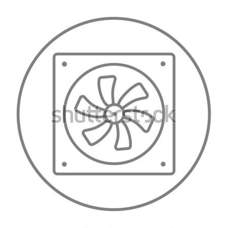 Foto stock: Computador · linha · ícone · teia · móvel · infográficos