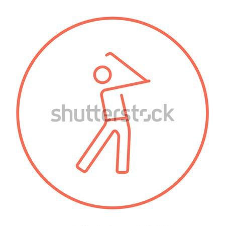 Golfer line icon. Stock photo © RAStudio