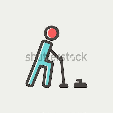 Curling line icon. Stock photo © RAStudio
