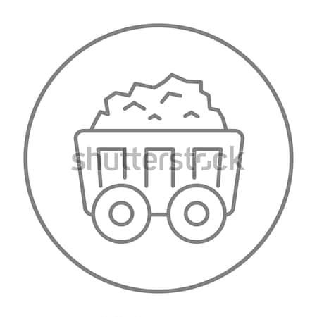 Mining coal cart line icon. Stock photo © RAStudio