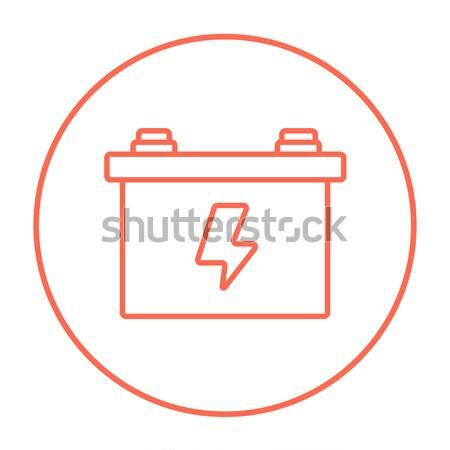 Car battery line icon. Stock photo © RAStudio