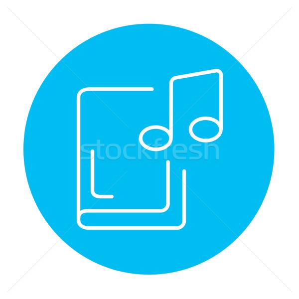 De audio libro línea icono web móviles Foto stock © RAStudio