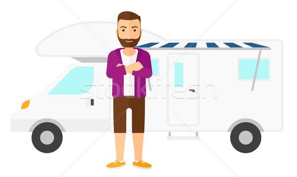 человека Постоянный Motor домой борода Сток-фото © RAStudio
