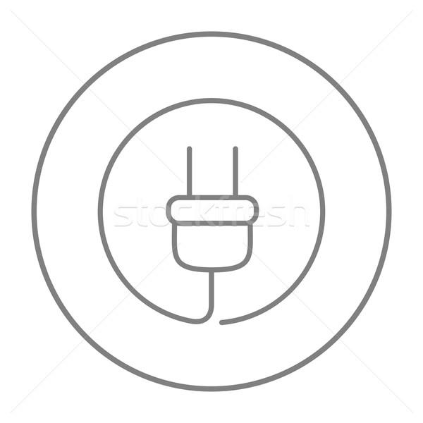 Plug line icona web mobile infografica Foto d'archivio © RAStudio