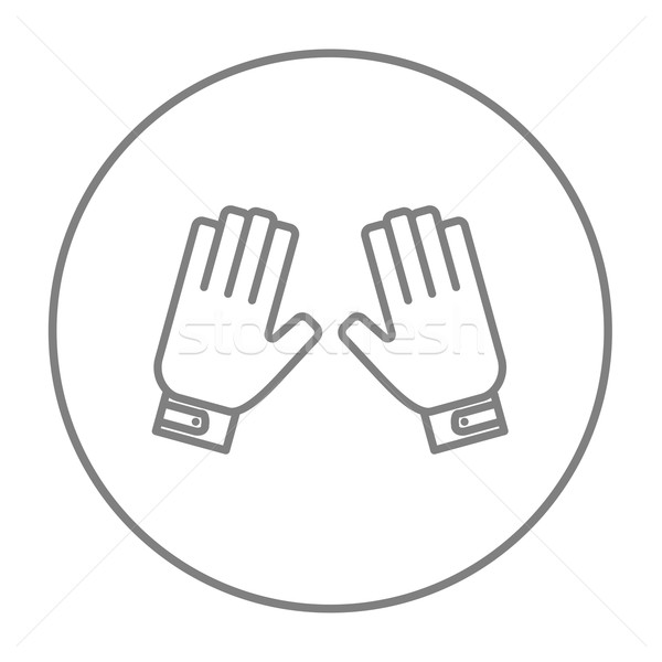 Motorcycle gloves line icon. Stock photo © RAStudio