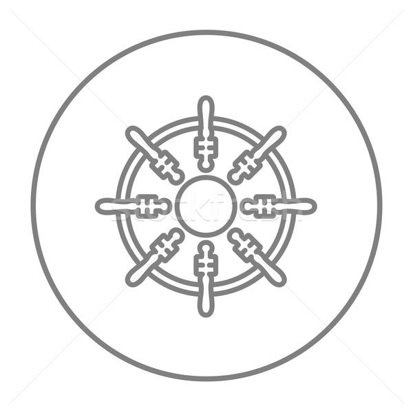 Helm line icon. Stock photo © RAStudio
