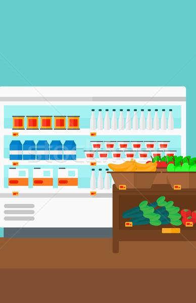 Background of supermarket shelves. Stock photo © RAStudio
