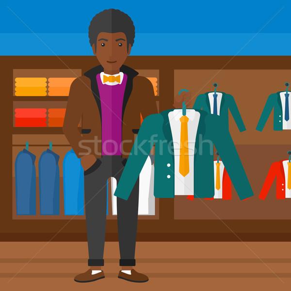 Hombre chaqueta percha ropa tienda Foto stock © RAStudio