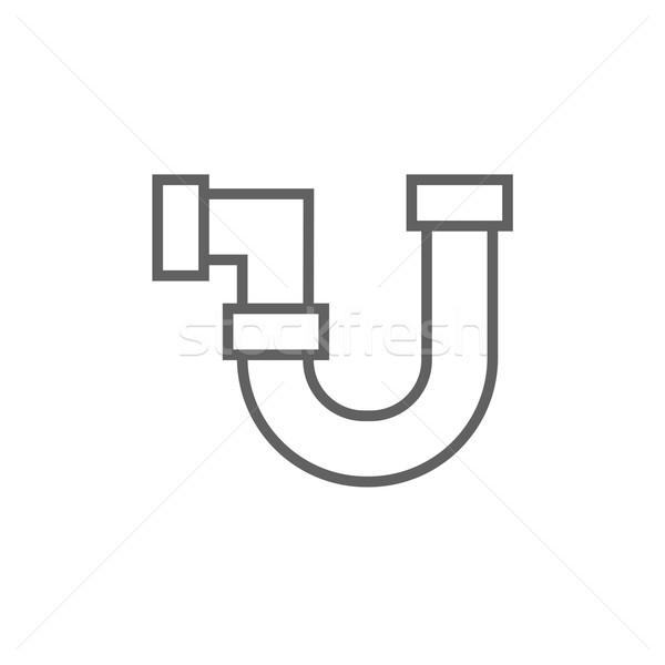 Stockfoto: Water · pijpleiding · lijn · icon · hoeken · web