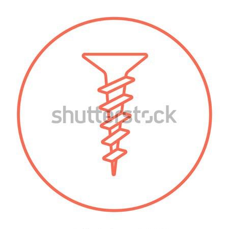 Stock fotó: Csavar · vonal · ikon · sarkok · háló · mobil