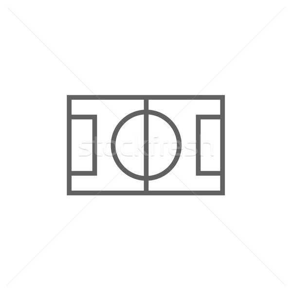 Stadion układ line ikona internetowych Zdjęcia stock © RAStudio