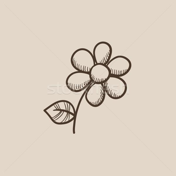 Flower sketch icon. Stock photo © RAStudio