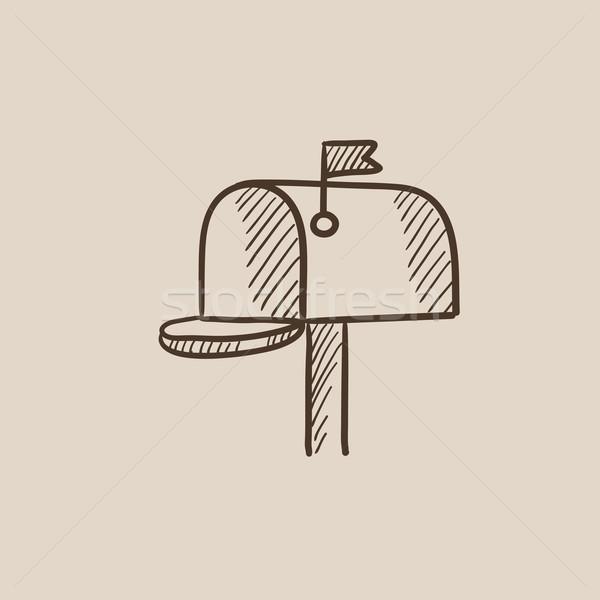 メールボックス スケッチ アイコン ウェブ 携帯 インフォグラフィック ストックフォト © RAStudio
