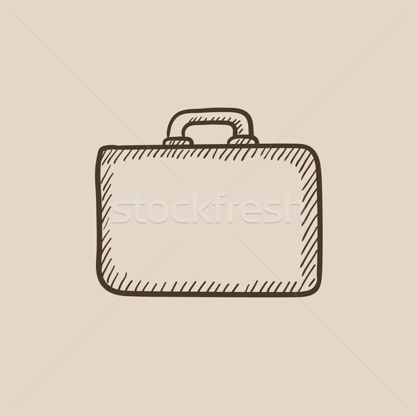 портфель эскиз икона веб мобильных Инфографика Сток-фото © RAStudio