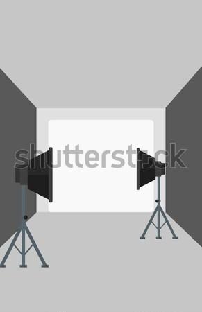 Lege foto studio verlichtingsapparatuur vector ontwerp Stockfoto © RAStudio