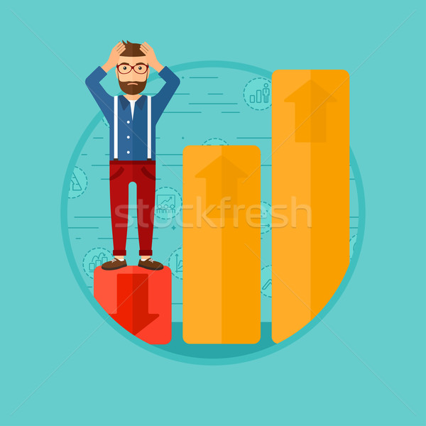 Bankrupt on chart going down. Stock photo © RAStudio