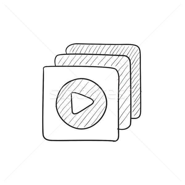 Media player sketch icon. Stock photo © RAStudio
