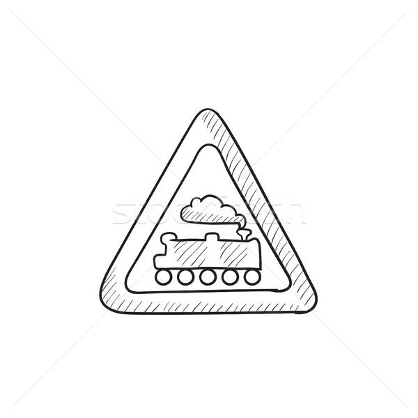 Train sign sketch icon. Stock photo © RAStudio