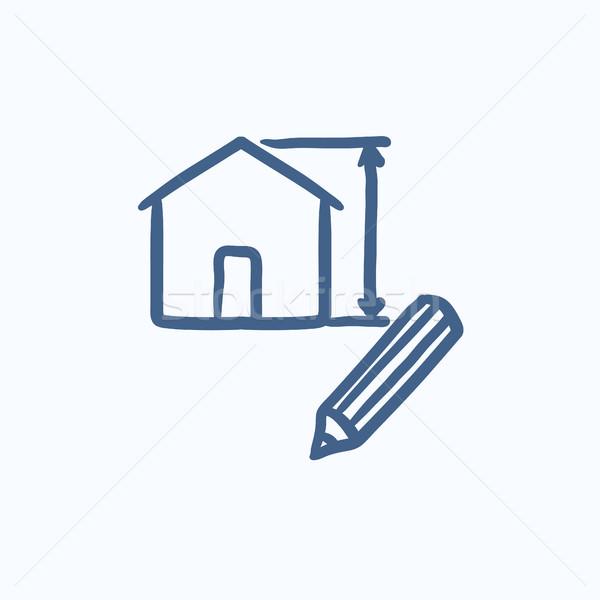House design sketch icon. Stock photo © RAStudio