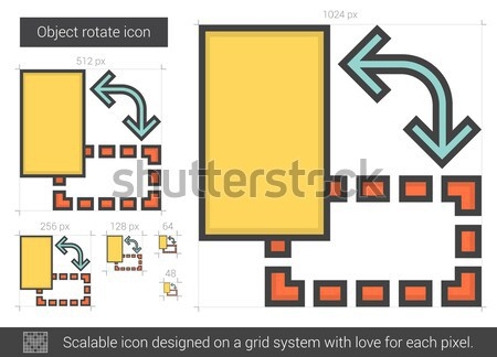 Object rotate line icon. Stock photo © RAStudio