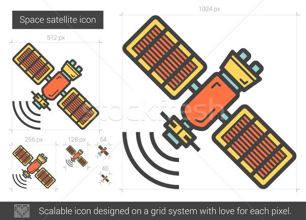スペース 衛星 行 アイコン ベクトル 孤立した ストックフォト © RAStudio