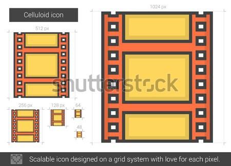 Celluloid line icon. Stock photo © RAStudio