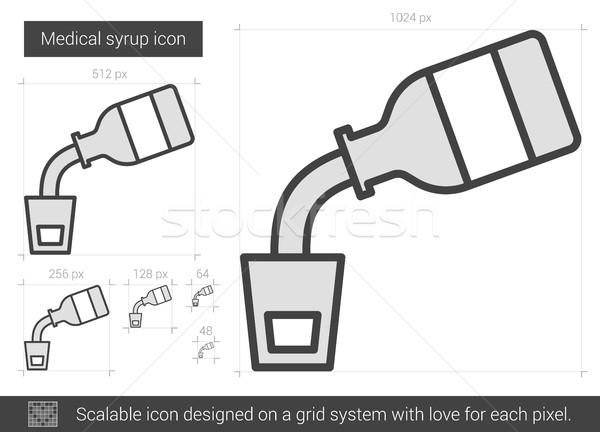 Medische siroop lijn icon vector geïsoleerd Stockfoto © RAStudio