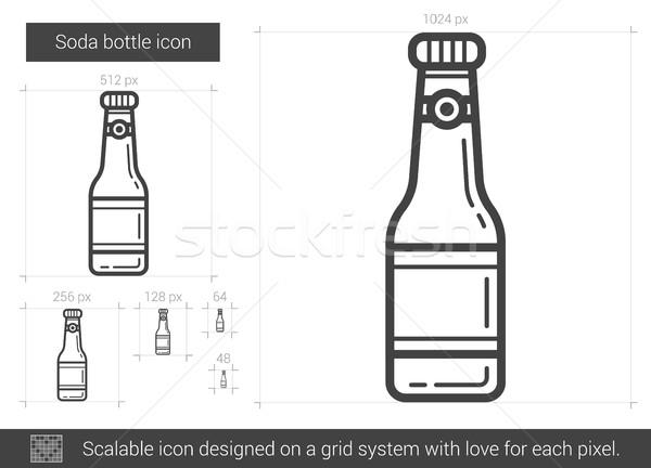 Soda bottiglia line icona vettore isolato Foto d'archivio © RAStudio
