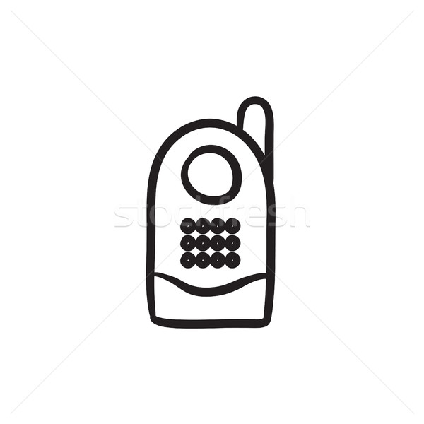 Radio baby monitor schets icon vector Stockfoto © RAStudio