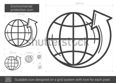 Ambiental protección línea icono vector aislado Foto stock © RAStudio