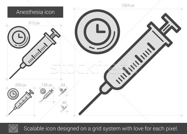 Anesthesie lijn icon vector geïsoleerd witte Stockfoto © RAStudio