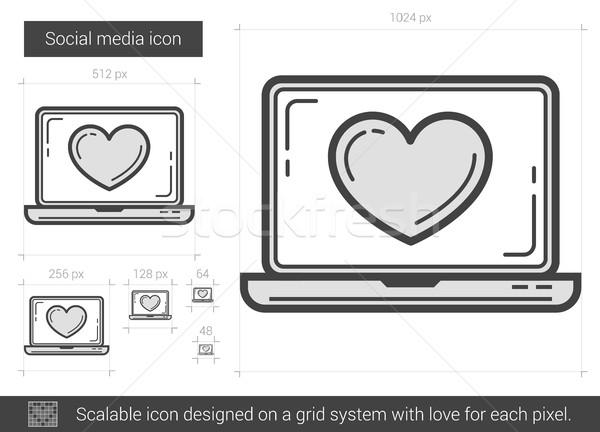 Social media line icon. Stock photo © RAStudio