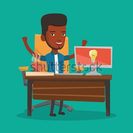 Man spelen computerspel jonge games Stockfoto © RAStudio