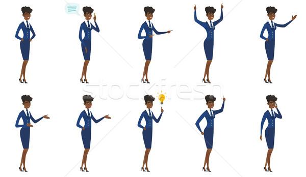 Vector set of stewardess characters. Stock photo © RAStudio