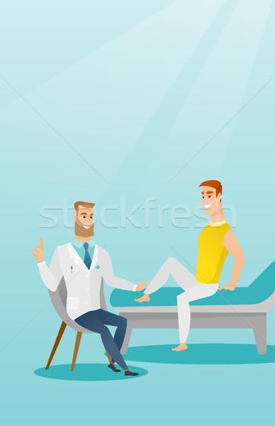 Tornaterem orvos boka beteg kaukázusi terapeuta Stock fotó © RAStudio